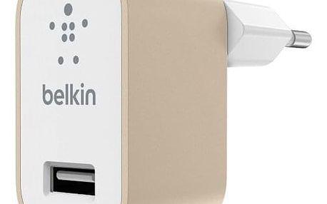 Nabíječka Belkin 1xUSB 2,4A, zlatá - ★ Dodatečná sleva v košíku 15 %