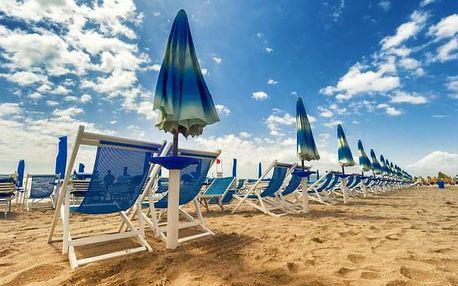 Rimini: Hotel del Vecchio *** jen 30 m od pláže s polopenzí a českým delegátem