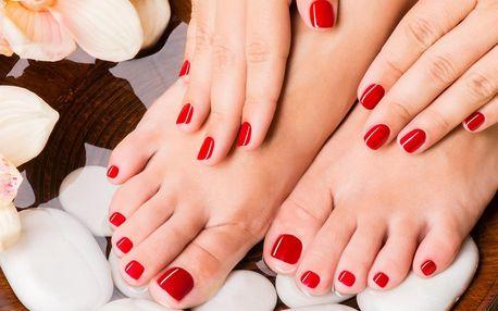 Gellak na ruce nebo nohy včetně suché manikúry