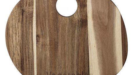 Bloomingville Krájecí prkénko Acacia kulaté, hnědá barva, dřevo