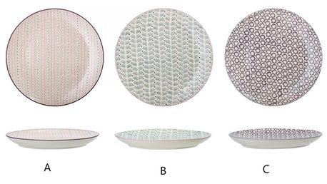 Bloomingville Keramický talíř Maya Plate Ø28 cm - 3 druhy B, multi barva, keramika