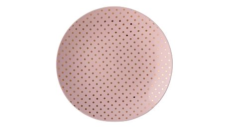 Bloomingville Dezertní talíř Henrietta Gold dots, růžová barva, zlatá barva, keramika