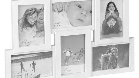 Fotorámeček na 6 fotografií Panorama, bílá