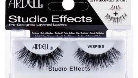 Ardell Studio Effects Wispies 1 ks nalepovací řasy pro ženy Black