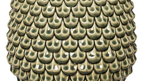 Bloomingville Květináč Green, zelená barva, keramika