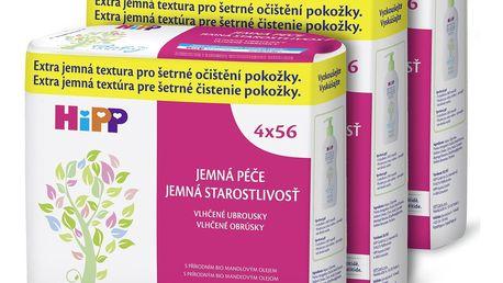 3x HIPP Babysanft (4x) 56 ks - vlhčené ubrousky