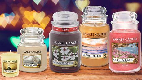 Yankee Candle v příjemných vůních a 3 velikostech