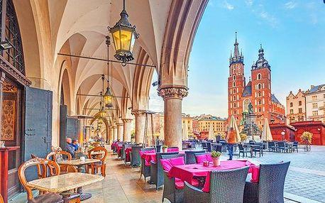 Krakov ve 3* hotelu Fortuna v historickém centru města se snídaní