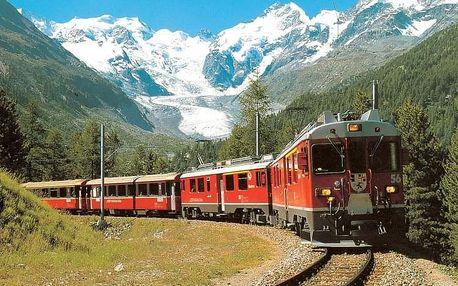 Švýcarsko s výletem horským expresem, Engadin - St. Moritz - 5 dní s dopravou a polopenzí