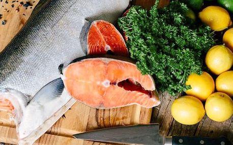 Cca 2 či 2,5 kg mraženého divokého lososa keta