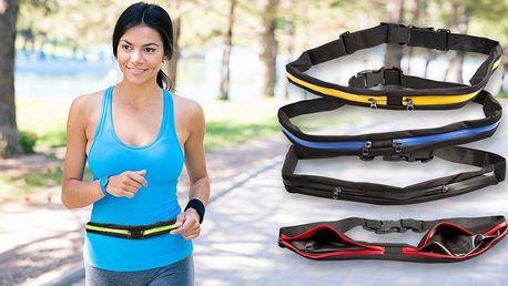 Elastický sportovní pásek s kapsami na cennosti