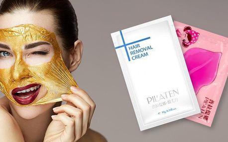 Pleťové masky na rty, na obličej i depilační krém