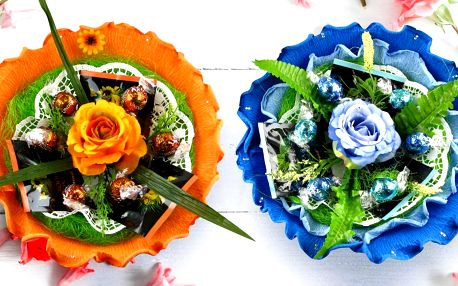 Potěší oko i chuť: kytice s pralinkami a čaji