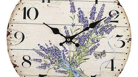 DAKLS Nástěnné hodiny Levandule, pr. 34 cm