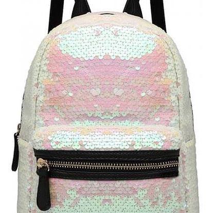 Dámský růžový batoh s flitry Fleek 6856