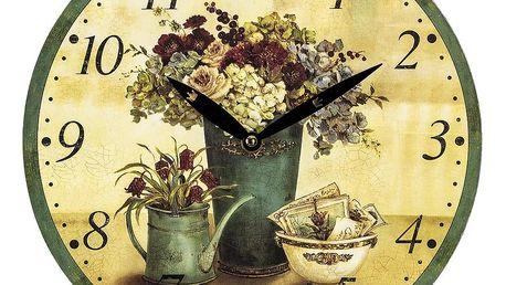 Nástěnné hodiny Provence Rose