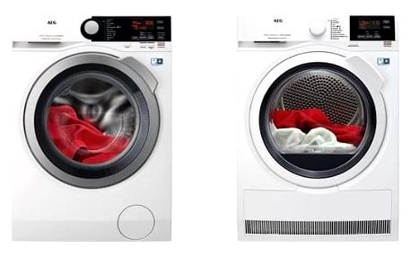 Set (Sušička prádla AEG AbsoluteCare® T8DBG48WC) + (Automatická pračka AEG ProSteam® L7FBE48SC) + DOPRAVA ZDARMA