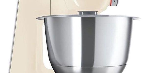 Kuchyňský robot Bosch CreationLine MUM58920 stříbrný/krémový
