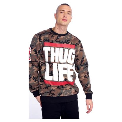 Thug Life / Jumper B.Fight in camouflage 4XL