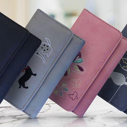Dámské peněženky s imitací kůže s různými motivy