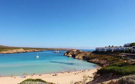Španělsko, Menorca, letecky na 8 dní plná penze