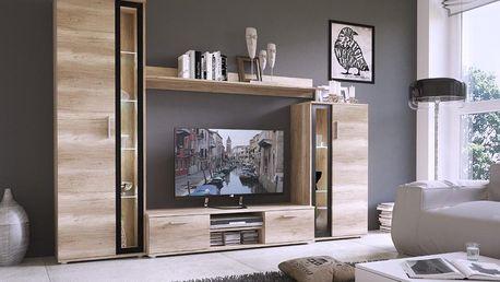 Obývací stěna BENTLEY- dub šedý