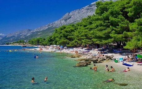 Chorvatsko - Makarská riviéra na 8 dní, bez stravy s dopravou vlastní