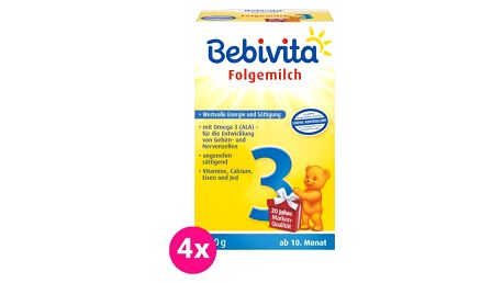 4x BEBIVITA 3 (500 g) - kojenecké mléko