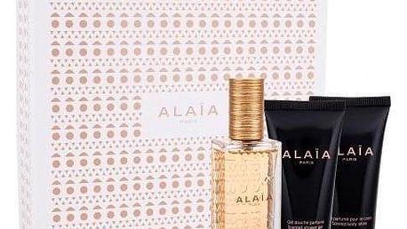 Azzedine Alaia Alaia Blanche dárková kazeta pro ženy parfémovaná voda 50 ml + tělové mléko 50 ml + sprchový gel 50 ml