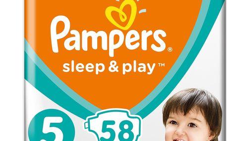 2x PAMPERS Sleep&Play 5 JUNIOR 58ks (11-16 kg) JUMBO PACK - jednorázové pleny