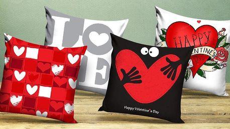 Povlaky na polštářky se zamilovanými motivy