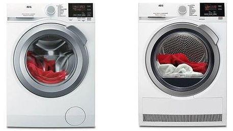 Set (Sušička prádla AEG ProSense™ T6DBG28SC) + (Automatická pračka AEG ProSense™ L6FBG68SC) + DOPRAVA ZDARMA