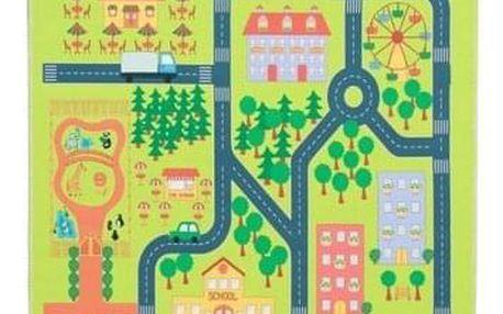 Tempo Kondela Dětský koberec Ebel město, 100 x 150 cm