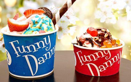 200 g mraženého jogurtu Funny Danny s posypem