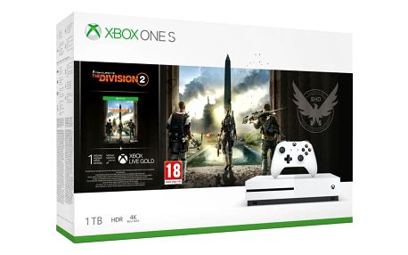 Herní konzole Microsoft Xbox One S 1 TB + Tom Clancy's The Division 2 (234-00881)