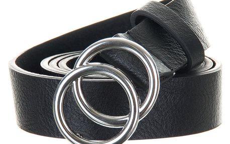Dámský kožený pásek s kulatou sponou