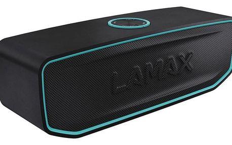 Přenosný reproduktor LAMAX Solitaire1 černý/tyrkysový + dárek Příslušenství LAMAX pro Sentine/street černé