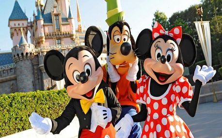Celý den v Disneylandu Paříž autobusem včetně ohňostroje