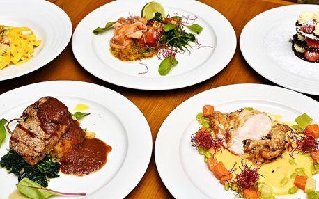 3chodové italské menu u Staroměstského náměstí