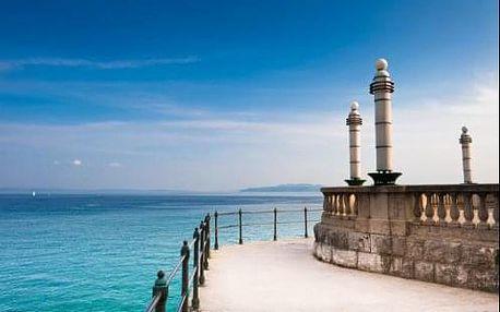 Dovolená na Istrii 50 m od moře v 4* hotelu Bristol s polopenzí v letovisku Opatija