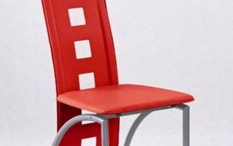 Kovová židle K4 M červená