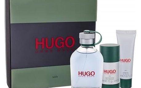 HUGO BOSS Hugo Man dárková kazeta pro muže toaletní voda 125 ml + sprchový gel 50 ml + deostick 75 ml