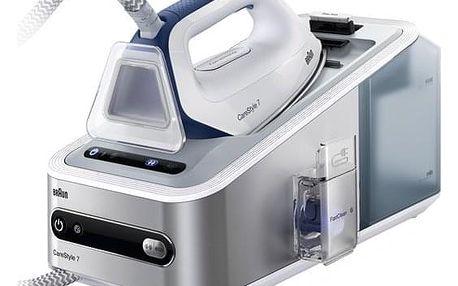 Žehlicí systém Braun CareStyle 7 IS7143WH stříbrná/bílá + dárek Žehlicí prkno Braun IB3001BK v hodnotě 2 690 Kč + DOPRAVA ZDARMA