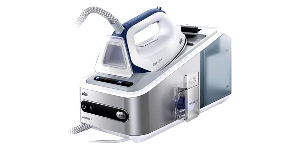 Žehlicí systém Braun CareStyle 7 IS7143WH stříbrná/bílá + dárky Žehlicí prkno Braun IB3001BK v hodnotě 2 690 Kč + DOPRAVA ZDARMA