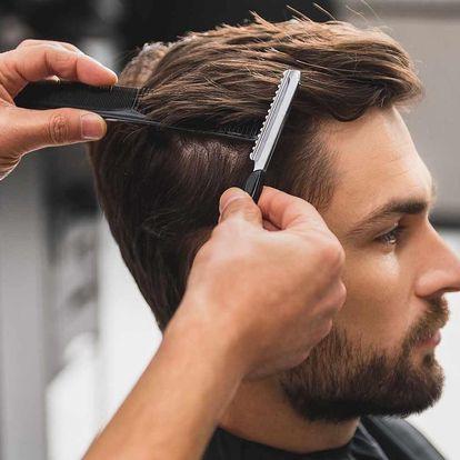 Pánský střih včetně masáže hlavy a stylingu