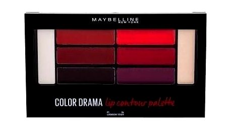 Maybelline Color Drama Lip Contour Palette 4 g paletka pro dokonalé rty pro ženy 01 Crimson Vixen
