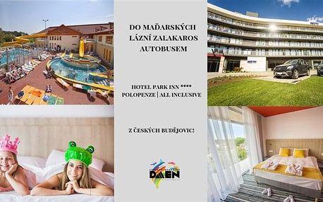 Maďarské lázně Zalakaros - Hotel Park Inn Bus - 4 dny s dopravou a polopenzí