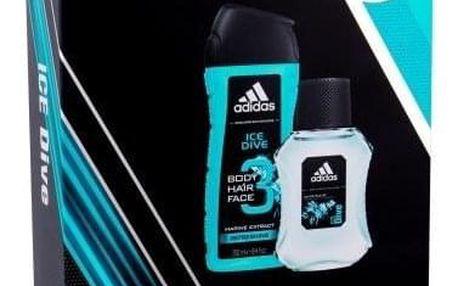 Adidas Ice Dive dárková kazeta pro muže toaletní voda 100 ml + sprchový gel 250 ml