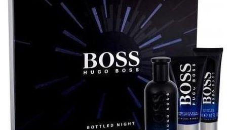 HUGO BOSS Boss Bottled Night dárková kazeta pro muže toaletní voda 100 ml + balzám po holení 75 ml + sprchový gel 50 ml