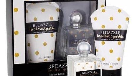 Bedazzle Live.love.sparkle dárková kazeta pro ženy toaletní voda 100 ml + tělové mléko 150 ml